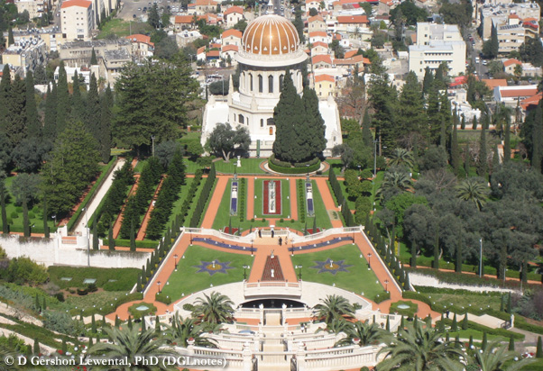 The Shrine of the Bāb in Ḥaifa, Israel.