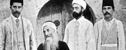 Mīrzā Yaḥyā Nūrī (known as Ṣobḥ-e Azal, 1831–1912), with three of his sons.